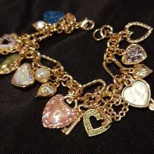 Kirk's Folly Hearts and Keys Bracelet
